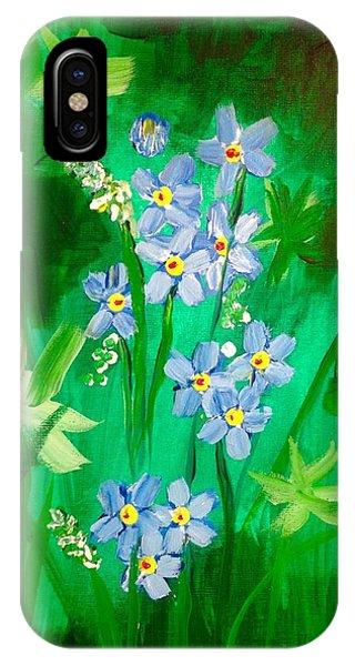 Blue Crocus Flowers IPhone Case