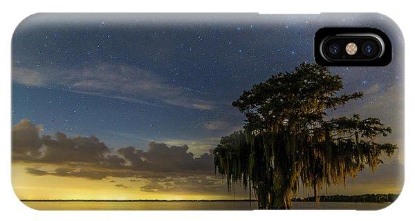 Blue Cypress Lake Nightsky IPhone Case