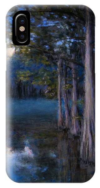 Blue Cypress Morning IPhone Case