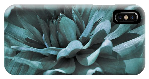 Blue Dahlia Dreams IPhone Case