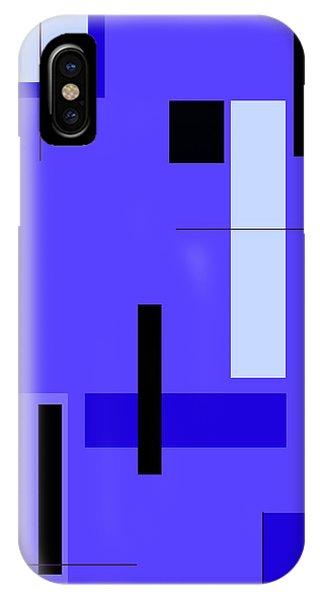 Blue Design 1 Vertical IPhone Case