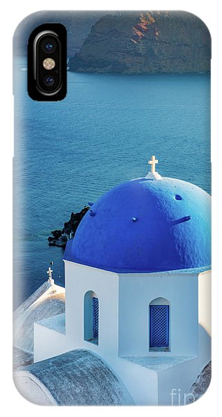 Greece iPhone X Case - Blue Dome by Inge Johnsson