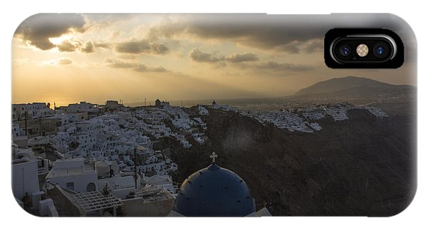 Blue Dome - Santorini IPhone Case