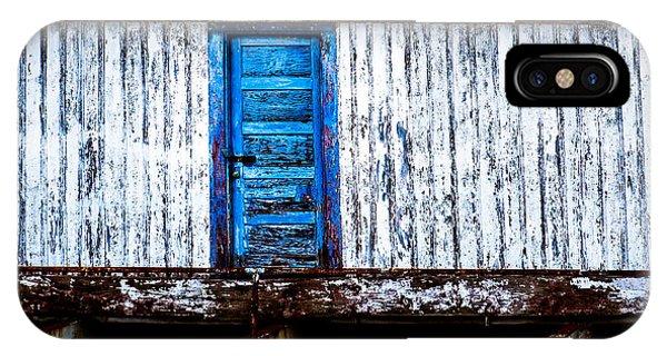 Blue Door Old Mill Building IPhone Case