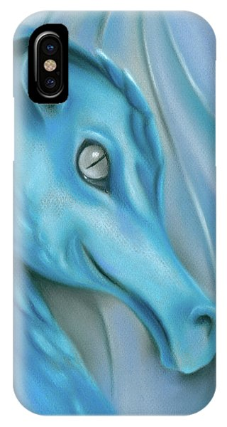 IPhone Case featuring the pastel Blue Dragon by MM Anderson