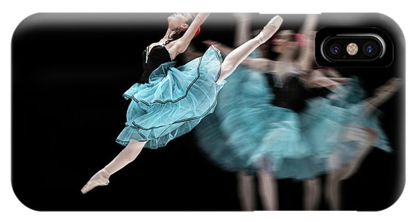 IPhone Case featuring the photograph Blue Dress Dance by Dimitar Hristov