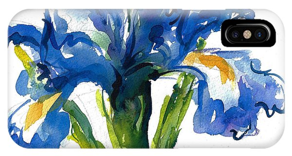 Blue Dutch Iris For Kappa Kappa Gamma IPhone Case