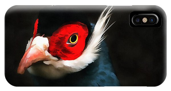 Blue Eared Pheasant IPhone Case