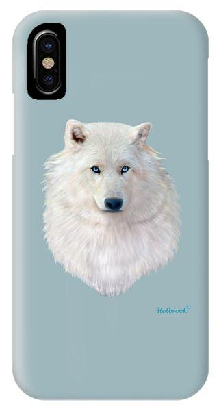 Blue-eyed Snow Wolf IPhone Case