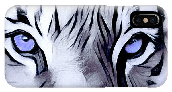 Blue Eyed Tiger IPhone Case