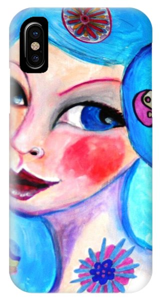 Blue Eyed Woman IPhone Case