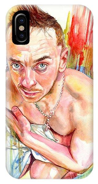Gay Men iPhone Case - Blue Eyes Heartbreaker by Suzann Sines