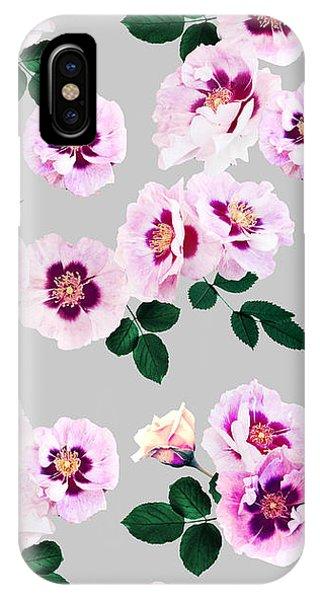Blue Eyes Roses IPhone Case