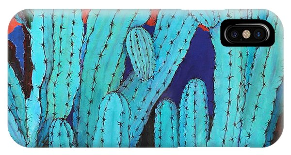 Blue Flame Cactus Acrylic IPhone Case