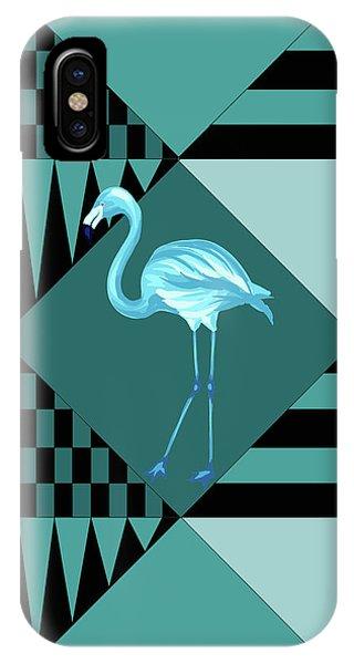 Blue Flamingo IPhone Case