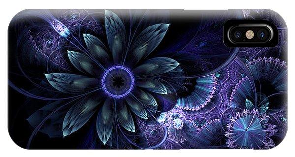 Blue Fleur And Lace IPhone Case