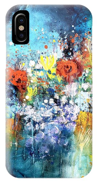 Blue Floral Phone Case by Wendy Mcwilliams