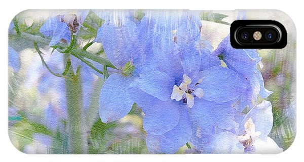Blue Flower Fantasy IPhone Case