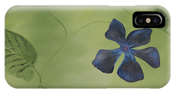 Blue Flower On A Vine IPhone Case