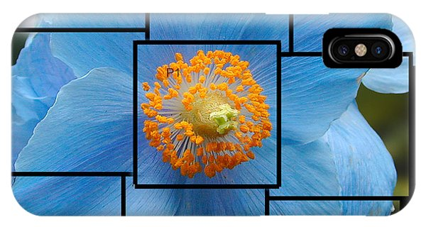 Blue Flower Photo Sculpture  Butchart Gardens  Victoria Bc Canada IPhone Case
