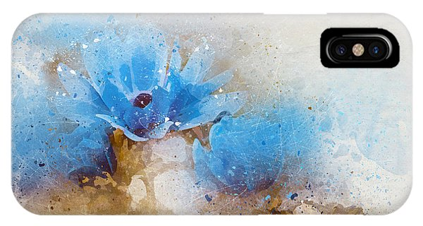 Blue Flowers 4a IPhone Case