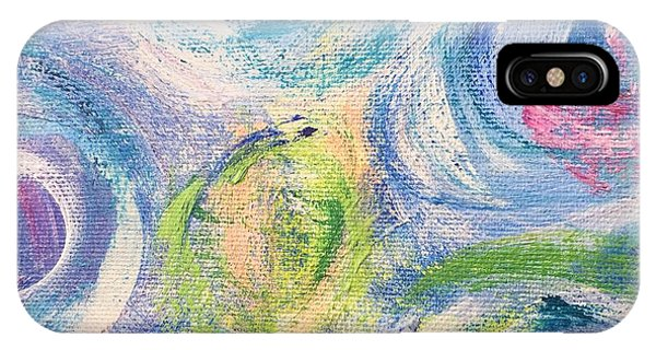 IPhone Case featuring the painting Blue Flowers - Abstract Painting by Cristina Stefan