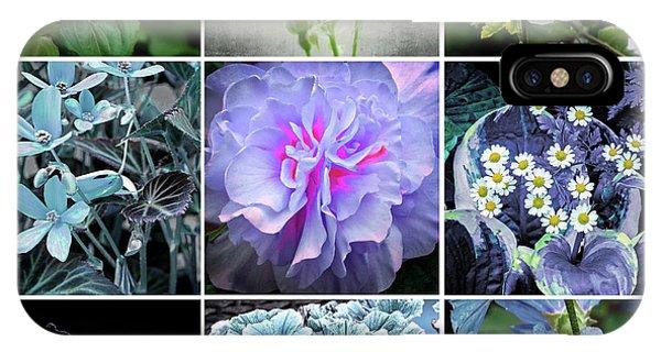 iPhone Case - Blue Flowers All by Bill Linn