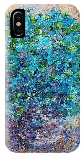 Blue Flowers In A Vase IPhone Case