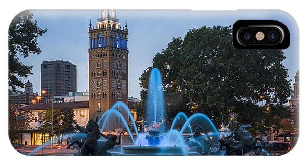 Blue Fountain IPhone Case