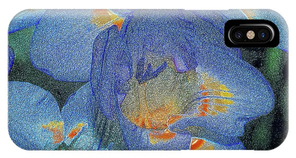 IPhone Case featuring the photograph Blue Freesia's by Lance Sheridan-Peel