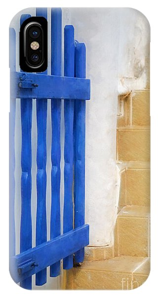 Greece iPhone Case - Blue Gate by HD Connelly