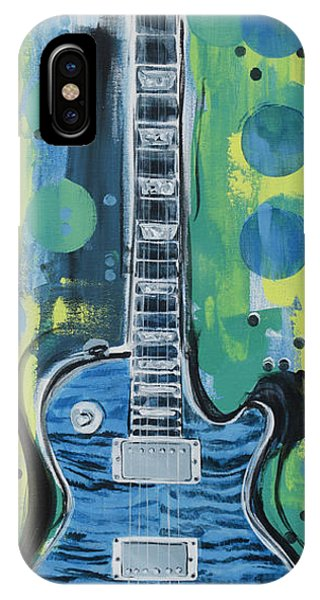 Blue Gibson Guitar IPhone Case