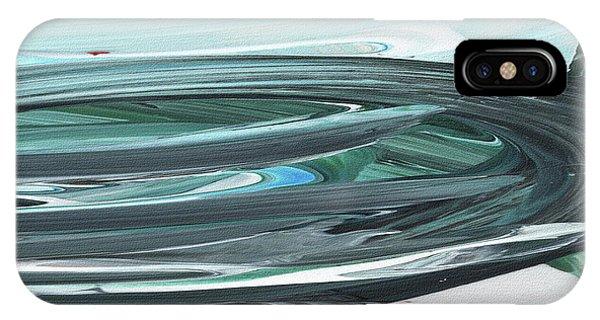 Organic Abstraction iPhone Case - Blue Gray Brush Strokes Abstract Art For Interior Decor V by Irina Sztukowski