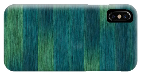 Blue Green Abstract 1 IPhone Case