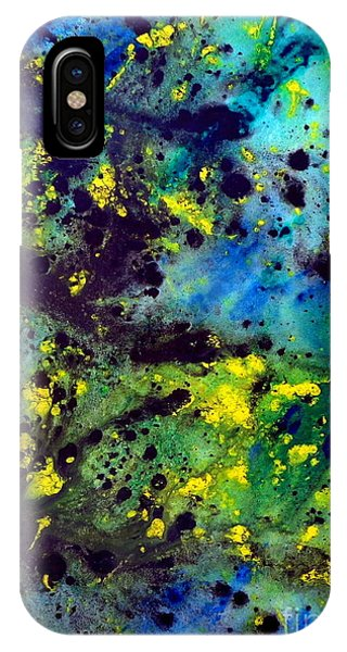 Blue Green Chaos IPhone Case