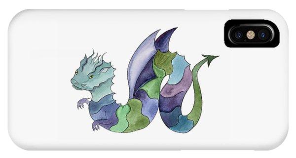 Blue Green Dragon IPhone Case