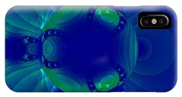 Blue Green Globe Luminant Fractal IPhone Case