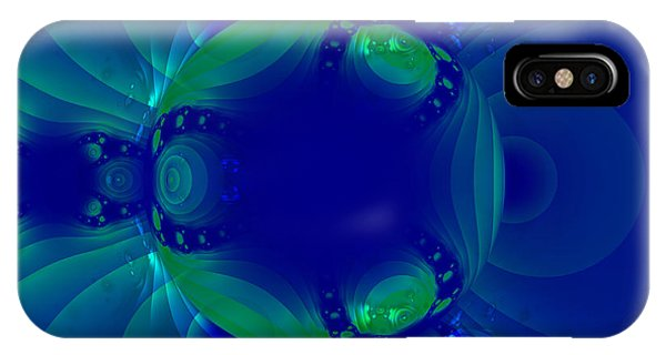 Blue Green Globe Luminant Fractal IPhone Case