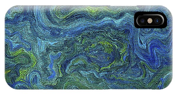 Blue Green Texture IPhone Case