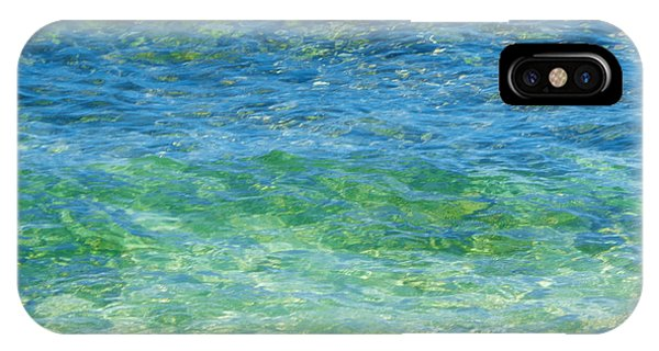 Blue Green Waves IPhone Case