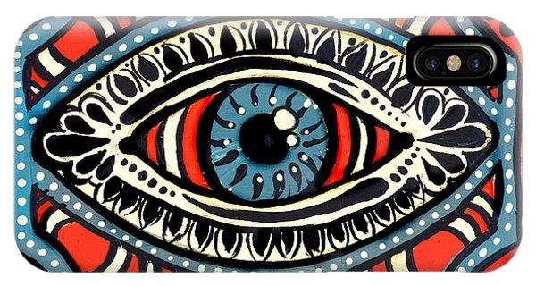 Blue Gypsi Eye IPhone Case