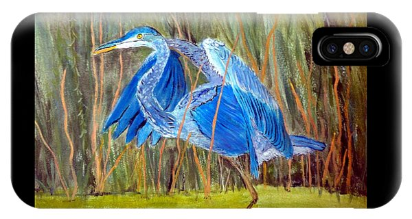 Blue Heron In Viera  Florida IPhone Case