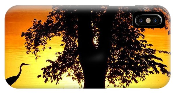 Blue Heron At Sunrise IPhone Case