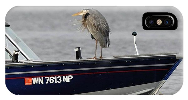 Blue Heron Boat Ride IPhone Case