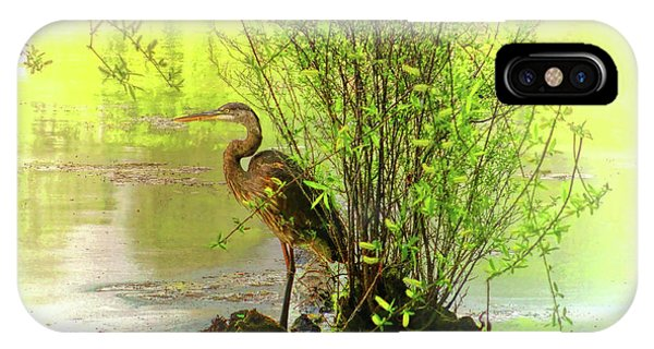 IPhone Case featuring the photograph Blue Heron Island by Ola Allen