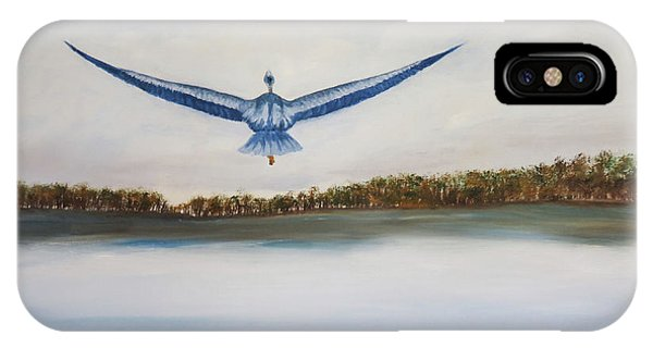 My Son iPhone Case - Blue Heron by Judy Nelson