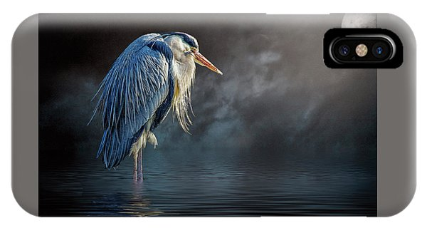 Blue Heron Moon IPhone Case