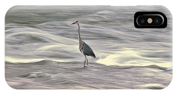 Blue Heron On The Grand River IPhone Case