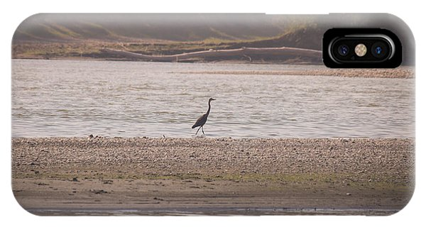 Blue Heron On The Yellowstone IPhone Case