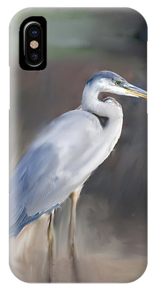 Blue Heron Painting  IPhone Case